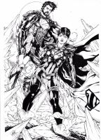 General Zod and Faora by Leomatos2014