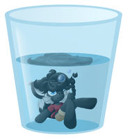 The Glass is Half Full v2 by CharCharCommish