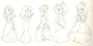 Disney Princesses by phoenix1784