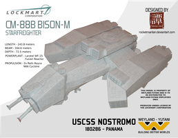 Alien - Starfreighter Nostromo Paper Model Kit by RocketmanTan