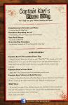 Captain Karl's Pizza Ship Menu by ninjaink