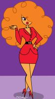 Sara Bellum's Face by CharmingAggravation