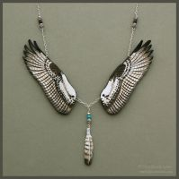 Osprey Wings - Leather Necklace by windfalcon