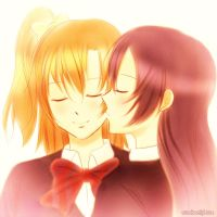 Honoka and Umi by xox1melly1xox