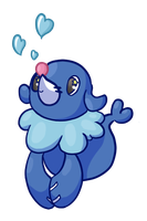 Popplio Bubbles by ShadowSketching