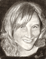 Andrea Libman Charcoal Study by Obsequiosity