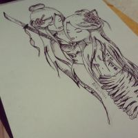 class drawing ^^ by XSinOfDreams