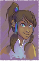 Korra Livestream Doodle by ditto9