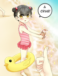 AV: Look! I have a crab!! by MikiTakamoto