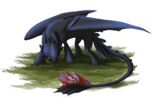 Toothless sketch by Merrinella