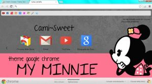 theme google chrome my minnie by CamiSweet