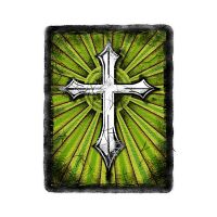 Green Grunge Cross by ca-booth