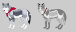 Wolf Adoptables BATCH 12 - OPEN by Krissi2197