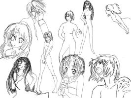 Future Manga Poses sketches 2 by stockholmmiyako