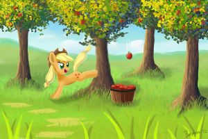Buckin' Apples by shivanking