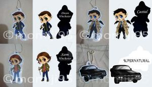 Supernatural keychains by Momiji95
