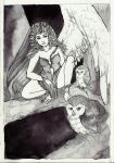 The best of INKtober_Harpy and owls by Xanarachne