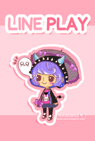 Line Play Avatar fast drawing by Naokawaii