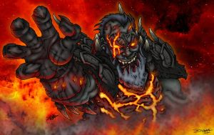 Deathwing - Rage by faceaway