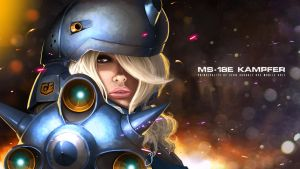 MS-18E Kampfer Girl by greathandJP