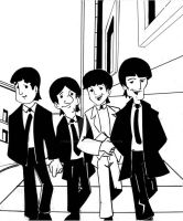 the cartoon beatles by wonderfully-twisted