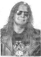 WWE HOF Bret Hart Pencil Drawing by Chirantha