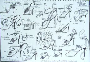 shoes sketches by ilani