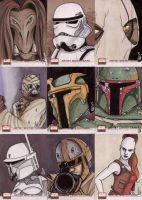 Star Wars Galaxy 4 cards 2 by ragelion