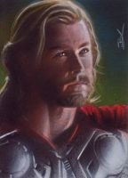 Thor sketch card by Ethrendil