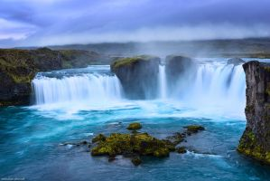 Godafoss Blue Hour by Dave-Derbis
