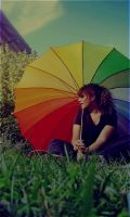 colorful umbrella by mus-owocowy
