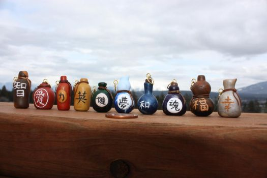 Sake Bottle Charms by thousandleaf0001
