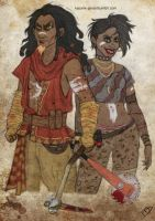 The Walking Disney : Scar and Shenzi by Kasami-Sensei