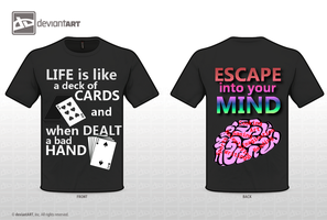 Escape Into Your Mind T-shirt Idea by EveFarrel