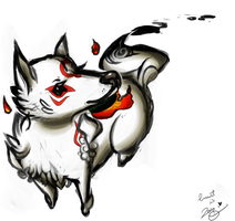 Collab - Okami: go on pet her by MTC-Studio