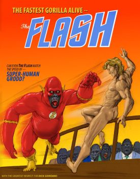 TLIID Superheroes as animals - Flash as a gorilla by Nick-Perks