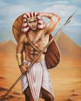 Ancient Egyptian warrior by Vilenchik