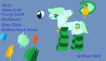 Myst The Myst-ical Colt by Wolfsie