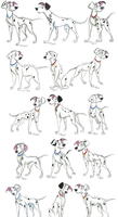 101 Dalmatians Grown-Up Pups ALL by NY-Stray