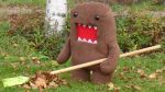 Domo and rake by ChocolateWitch