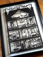 Dolls House Black - Hand Designed Laser Cut by PaperPandaCuts