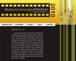 Motion Commotion - Web Page by blankearthdesign