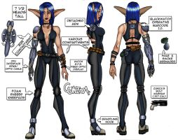 Cunica Character Design Page by Liabra