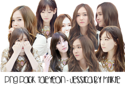 [PNG Pack] Taeyeon - Jessica by Milkie by strawberryminna112