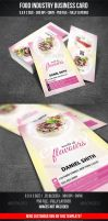 Food Industry Business Card by graphicstock