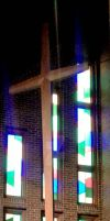 Stained Glass Church Stock Image by DanaHaynes
