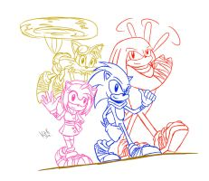 Sonic Boom team by KrlosKmask