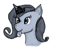 Goofy grey-scale Luna by WoefulWriters