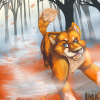 Running leaves by That-CrazyCat