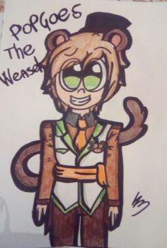 popgoes the weasel design by wolf-con-f by xXSiryaXx